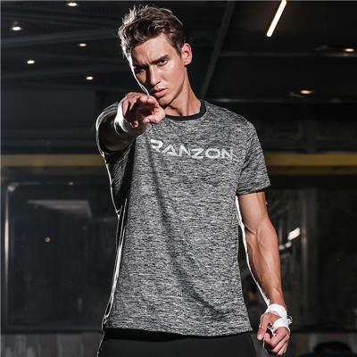 运动短袖篮球上衣宽松肌肉弹力紧身速干健身服女 跑步T恤兄弟衣男