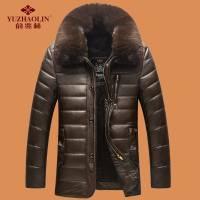 【俞兆林】秋冬季爸爸装棉衣厚款外套皮棉袄冬装PU皮衣中老年男装