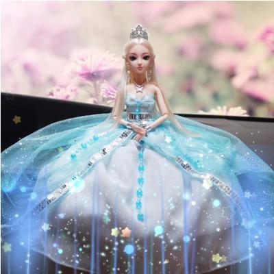 【买一送六】冰公主芭比娃娃车载娃娃换装娃娃夜萝莉芭比娃娃套装