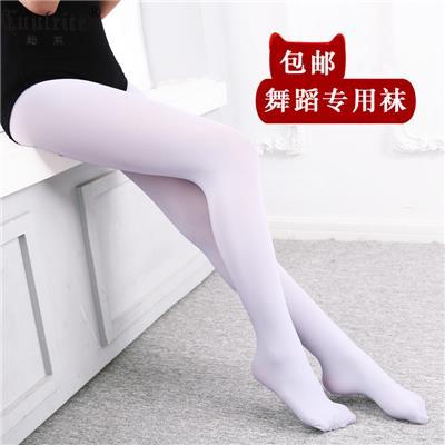 儿童舞蹈袜女童白色连裤袜练功丝袜大袜连体袜薄款春秋打底裤袜子