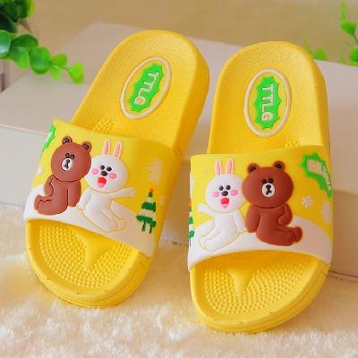 儿童拖鞋夏女童男童浴室防滑宝宝可爱卡通室内小孩家用凉拖鞋软底